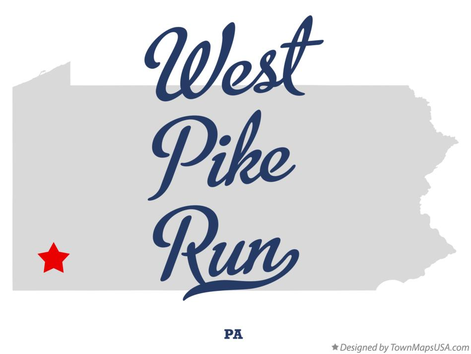 Map of West Pike Run Pennsylvania PA