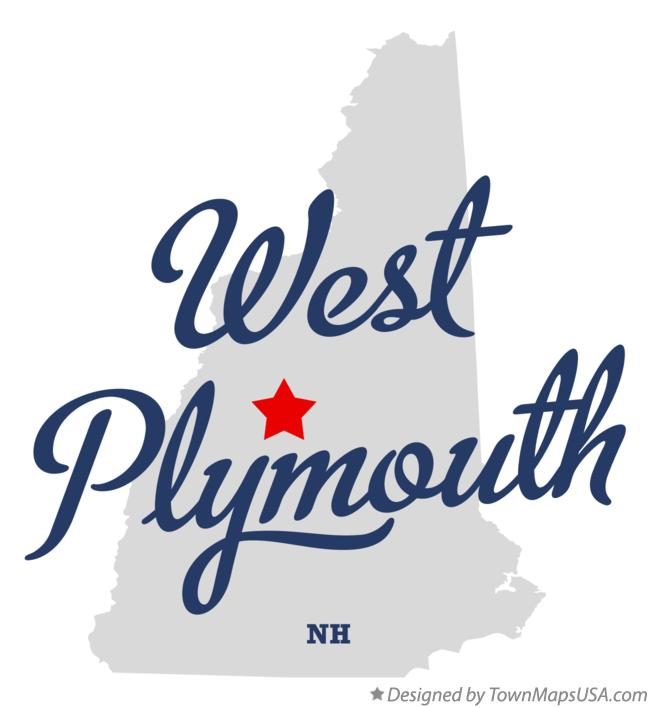 Map of West Plymouth New Hampshire NH