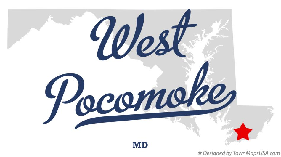 Map of West Pocomoke Maryland MD