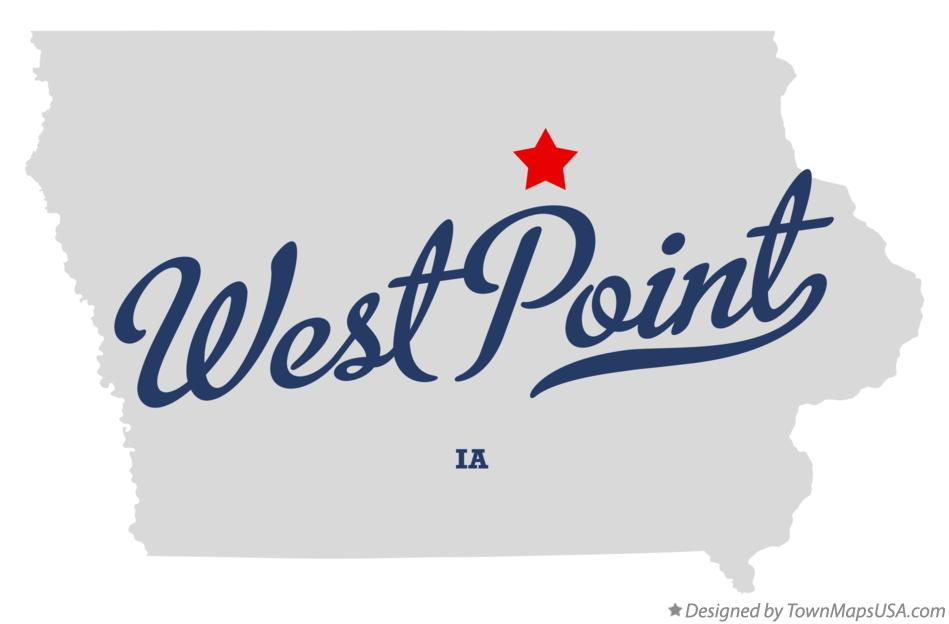 Map of West Point Iowa IA