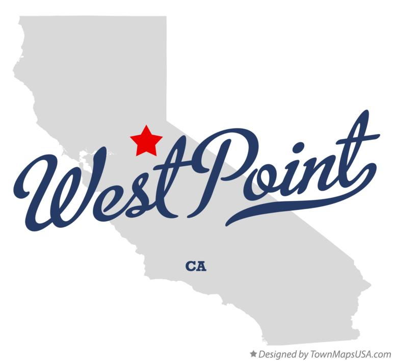 Map of West Point California CA
