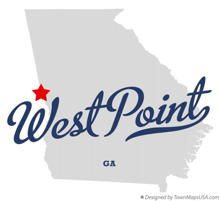 Map of West Point Georgia GA