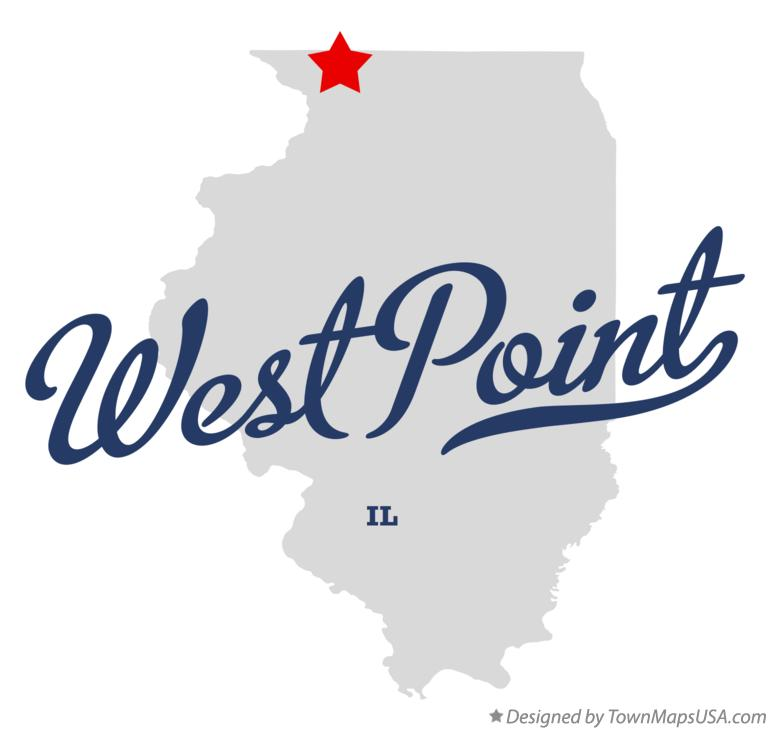 Map of West Point Illinois IL