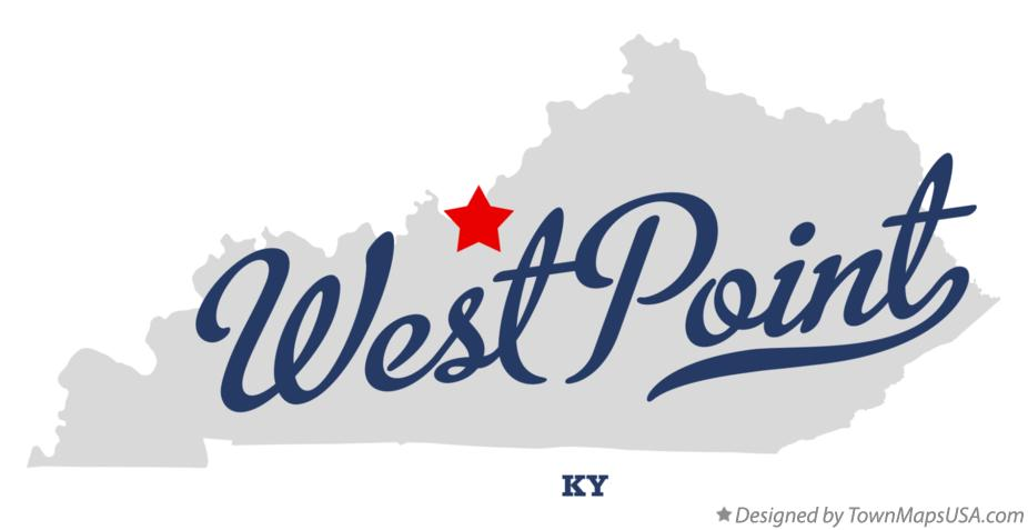 Map of West Point Kentucky KY