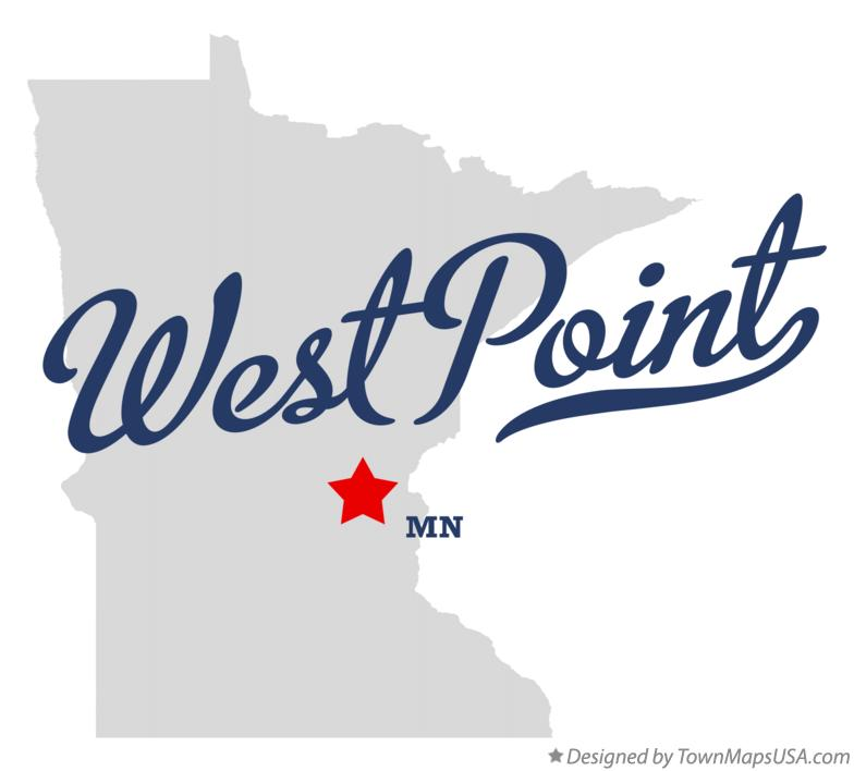 Map of West Point Minnesota MN