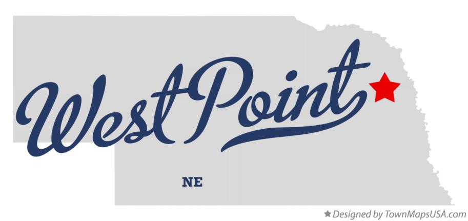 Map Of West Point Ne Nebraska