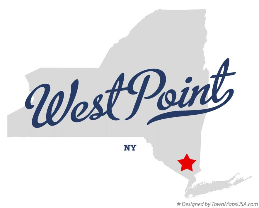 Map of West Point New York NY