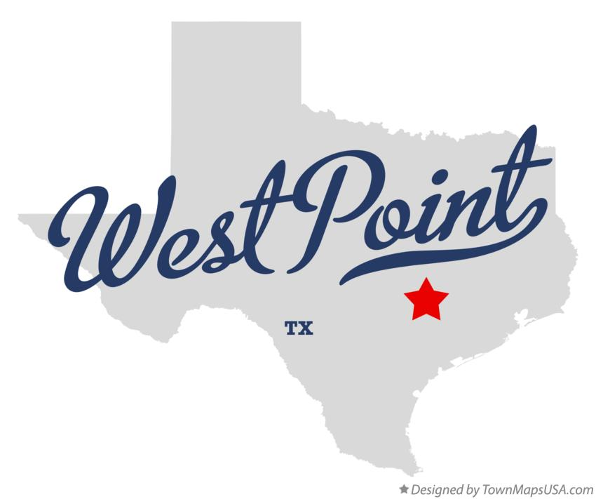 Map of West Point Texas TX