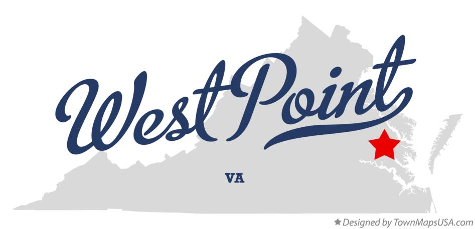 Map of West Point Virginia VA