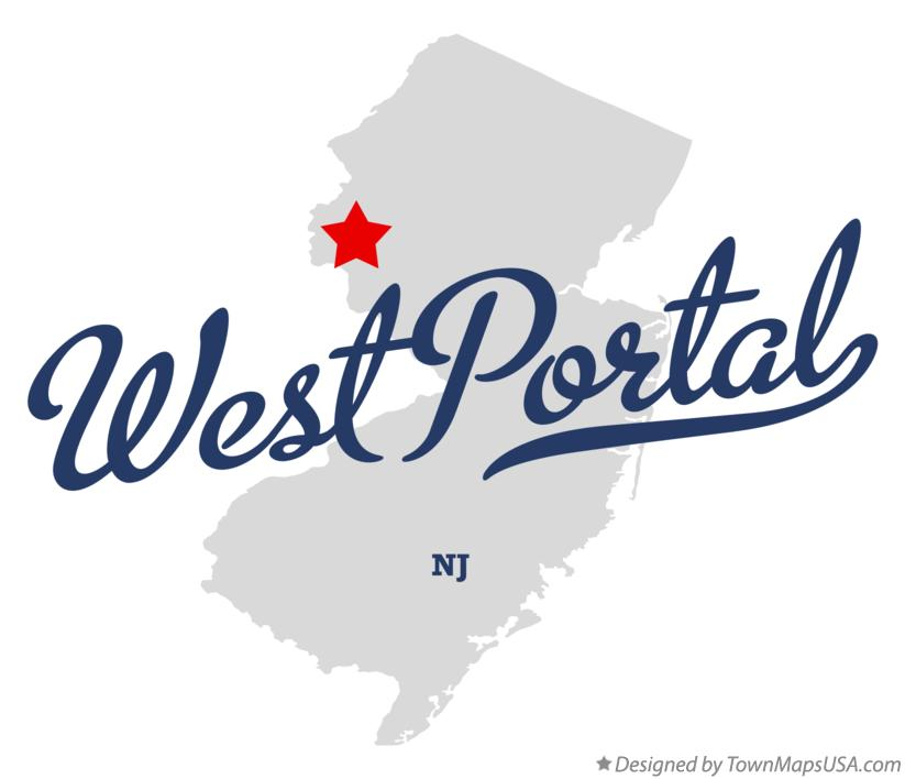 Map of West Portal New Jersey NJ