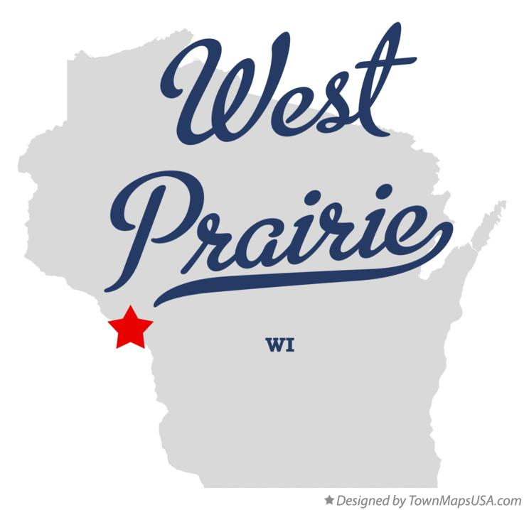 Map of West Prairie Wisconsin WI
