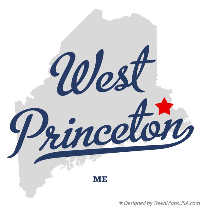 Map of West Princeton Maine ME