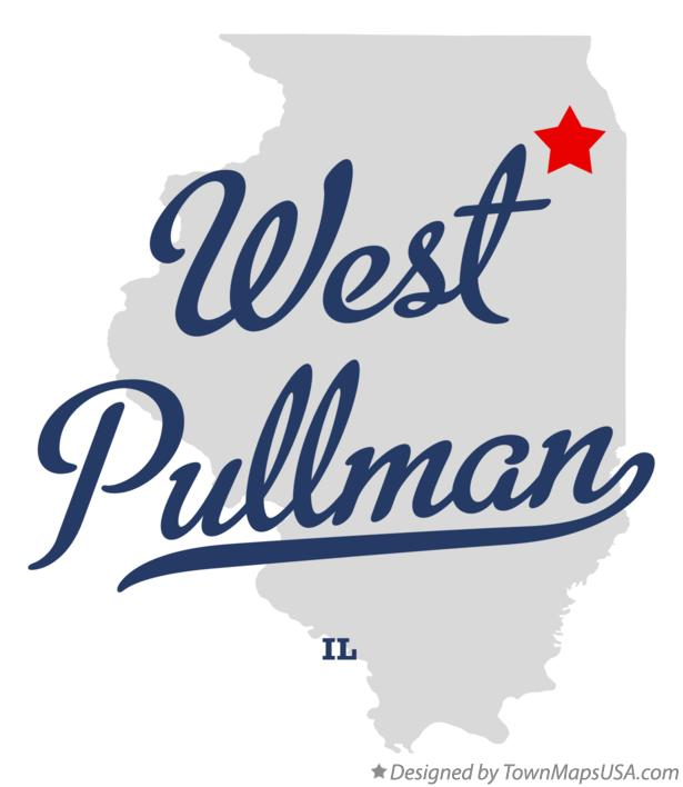 Map of West Pullman Illinois IL
