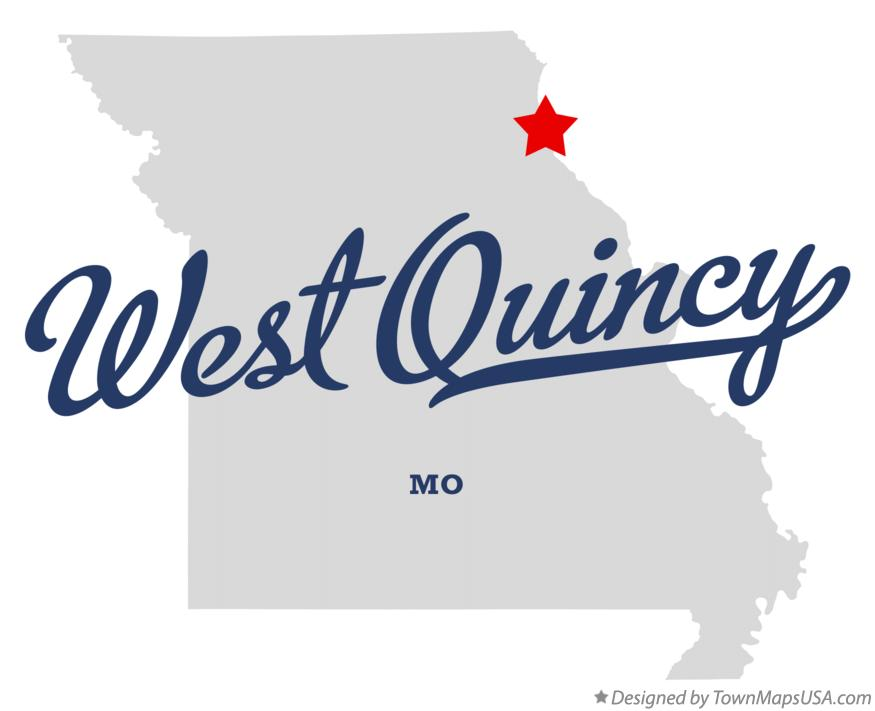 Map of West Quincy Missouri MO