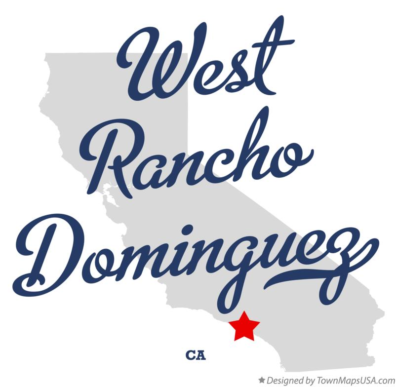 Map of West Rancho Dominguez California CA
