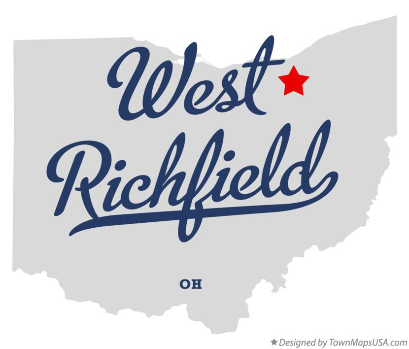 Map of West Richfield Ohio OH
