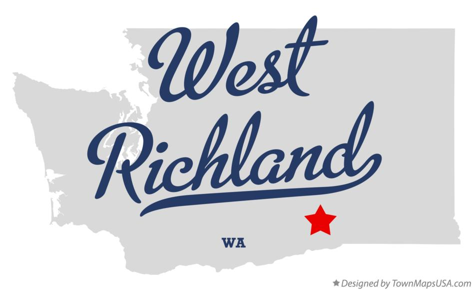 Map of West Richland Washington WA