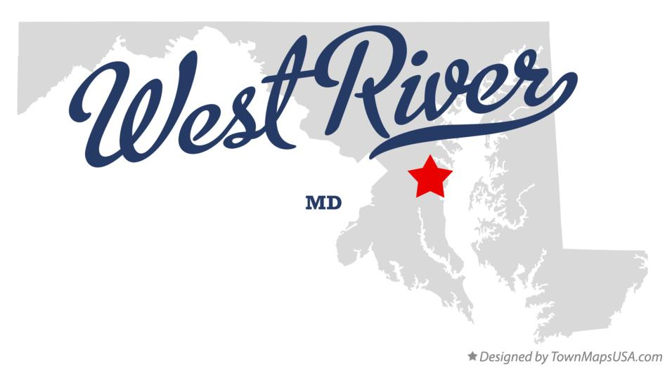 Map of West River Maryland MD