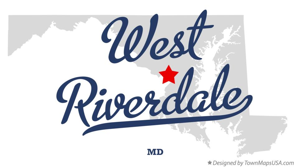 Map of West Riverdale Maryland MD