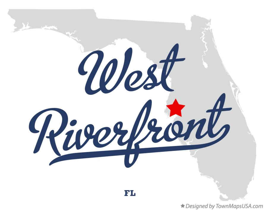 Map of West Riverfront Florida FL