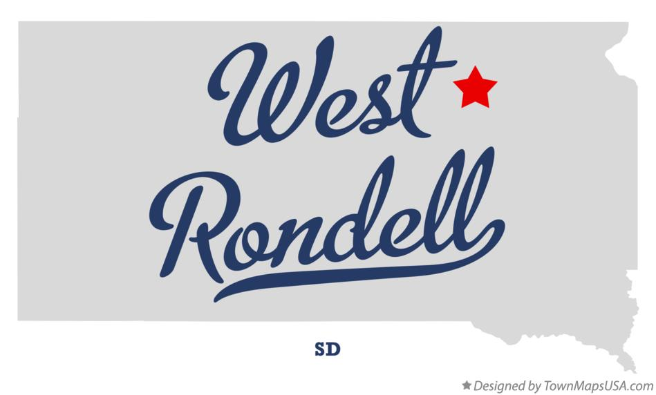 Map of West Rondell South Dakota SD