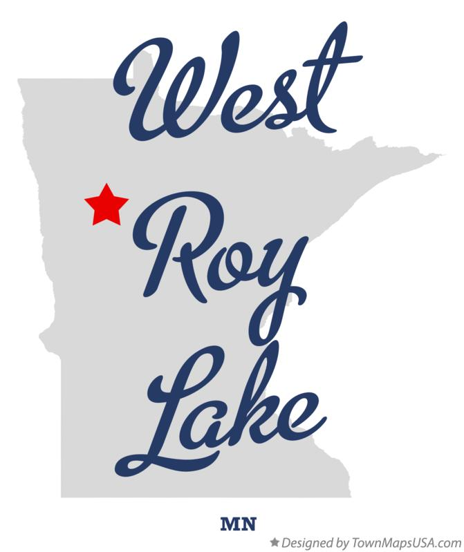 Map of West Roy Lake Minnesota MN