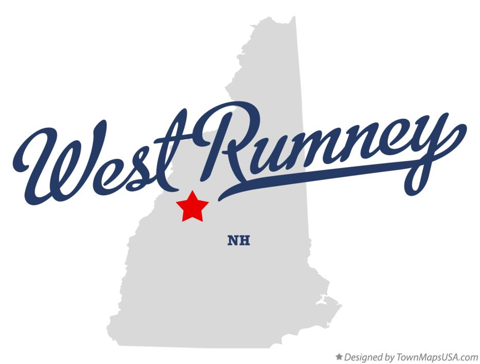 Map of West Rumney New Hampshire NH