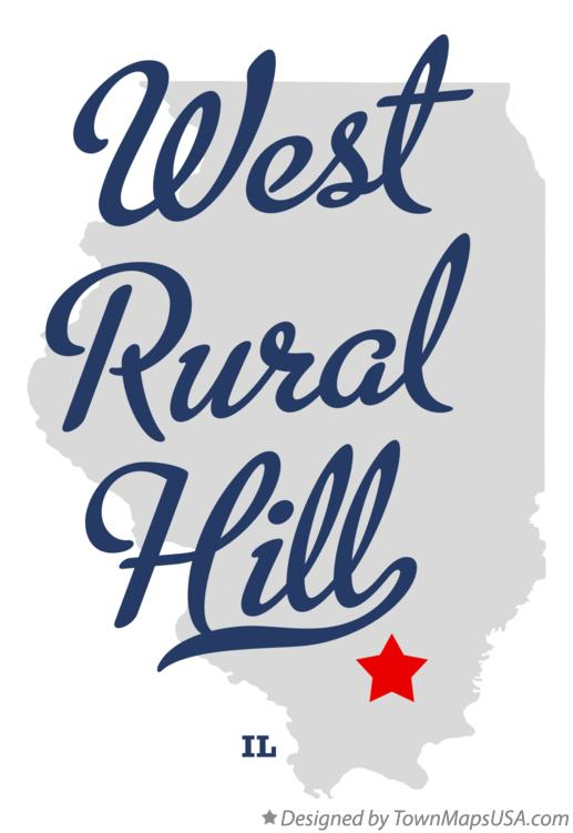 Map of West Rural Hill Illinois IL