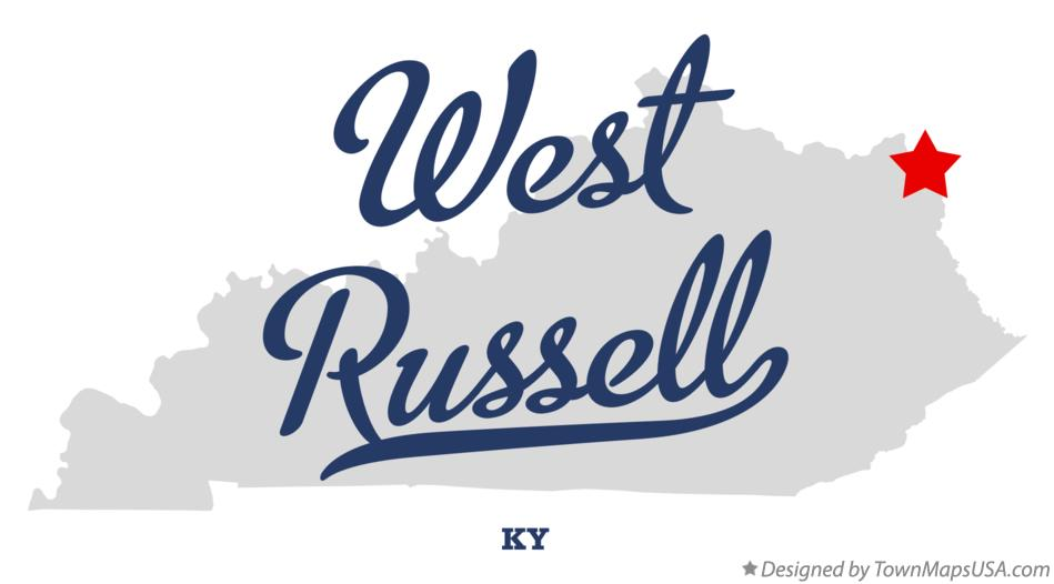 Map of West Russell Kentucky KY