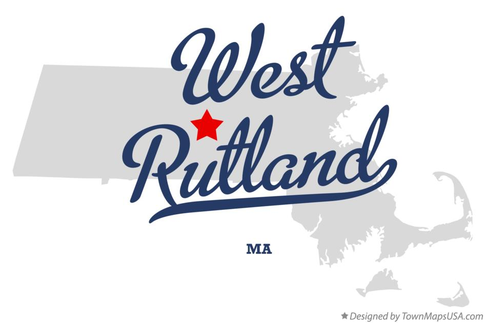 Map of West Rutland Massachusetts MA