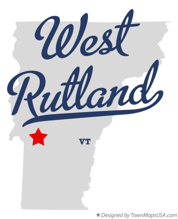 Map of West Rutland Vermont VT