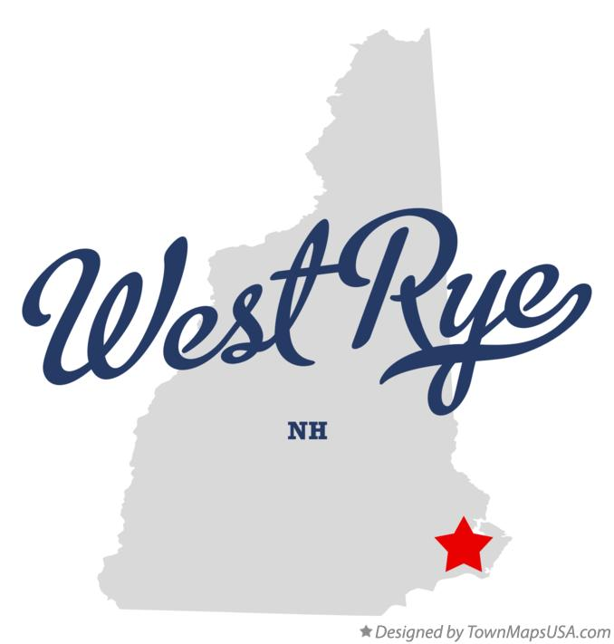 Map of West Rye New Hampshire NH