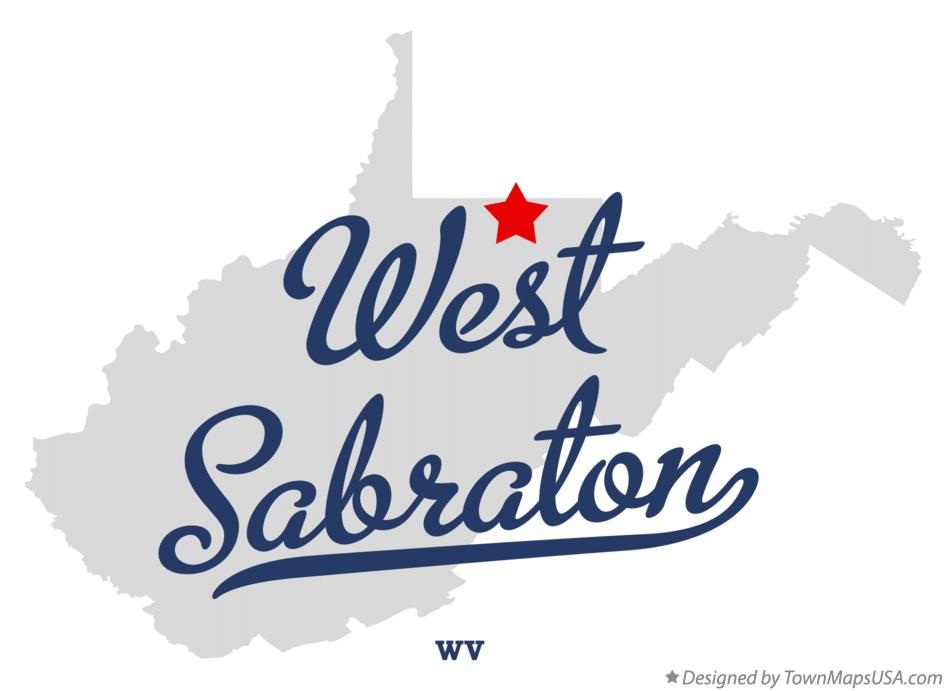 Map of West Sabraton West Virginia WV
