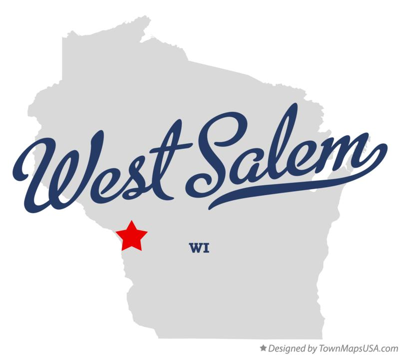 Map of West Salem Wisconsin WI