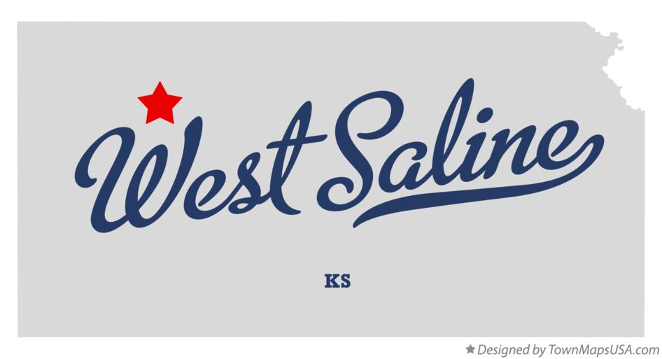 Map of West Saline Kansas KS