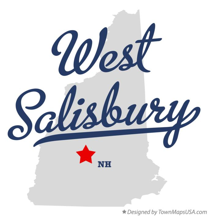 Map of West Salisbury New Hampshire NH