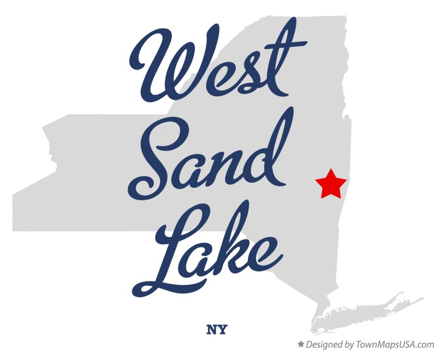 Map of West Sand Lake New York NY
