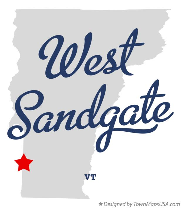 Map of West Sandgate Vermont VT