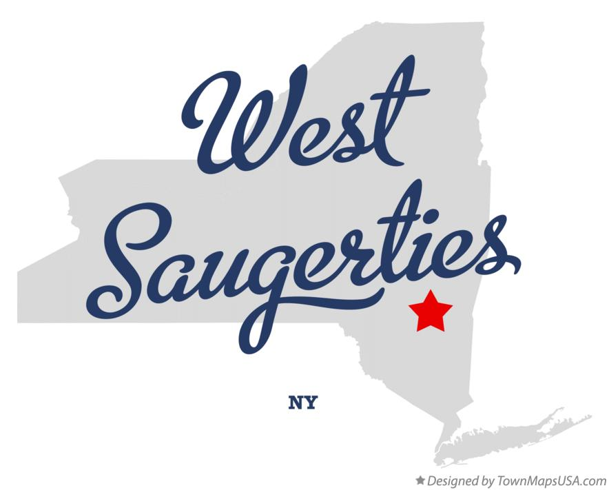 Map of West Saugerties New York NY