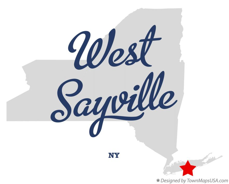 Map of West Sayville New York NY