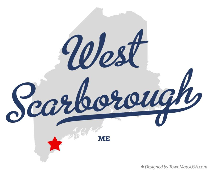 Map of West Scarborough Maine ME