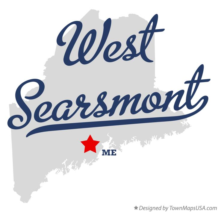 Map of West Searsmont Maine ME