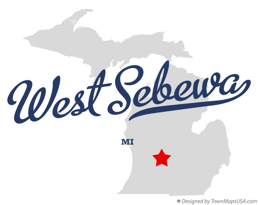 Map of West Sebewa Michigan MI