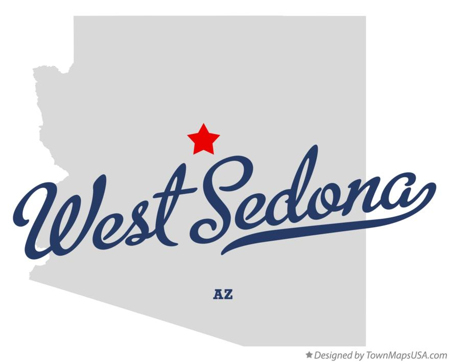 Map of West Sedona Arizona AZ