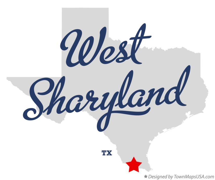 Map of West Sharyland Texas TX