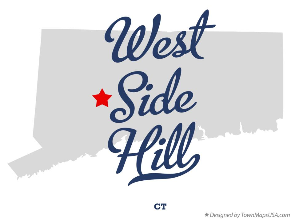 Map of West Side Hill Connecticut CT