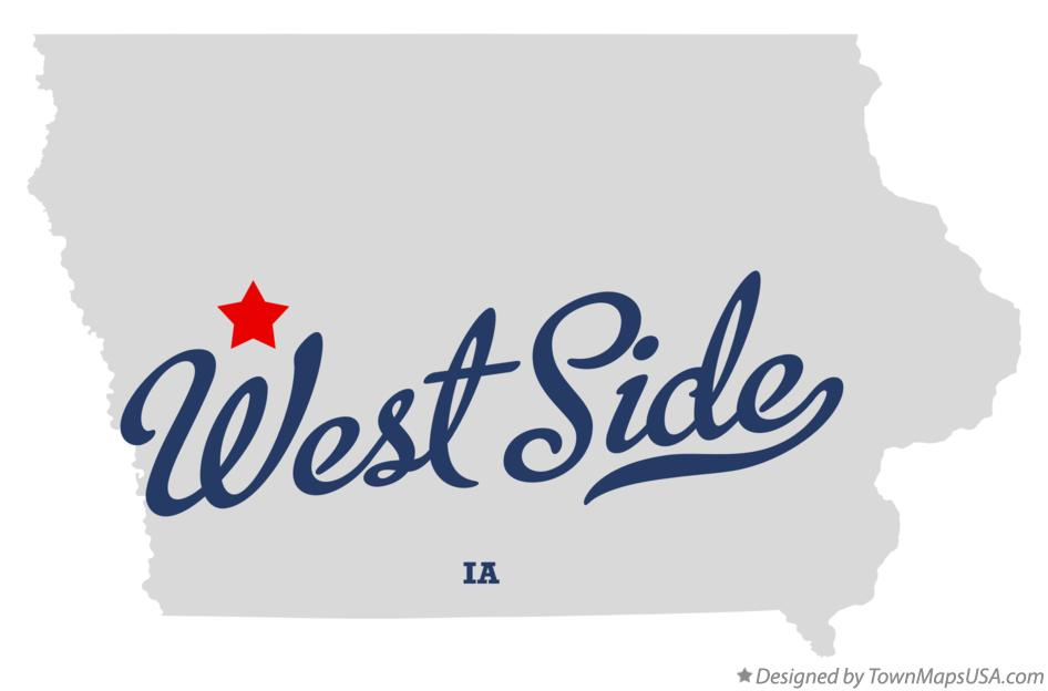 Map of West Side Iowa IA