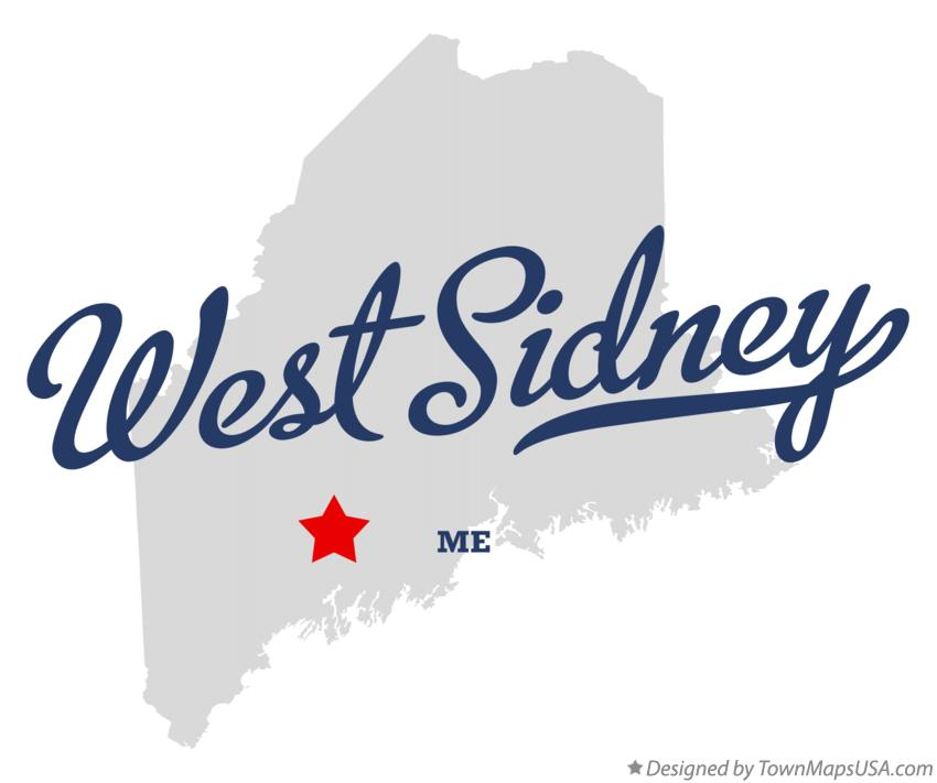 Map of West Sidney Maine ME