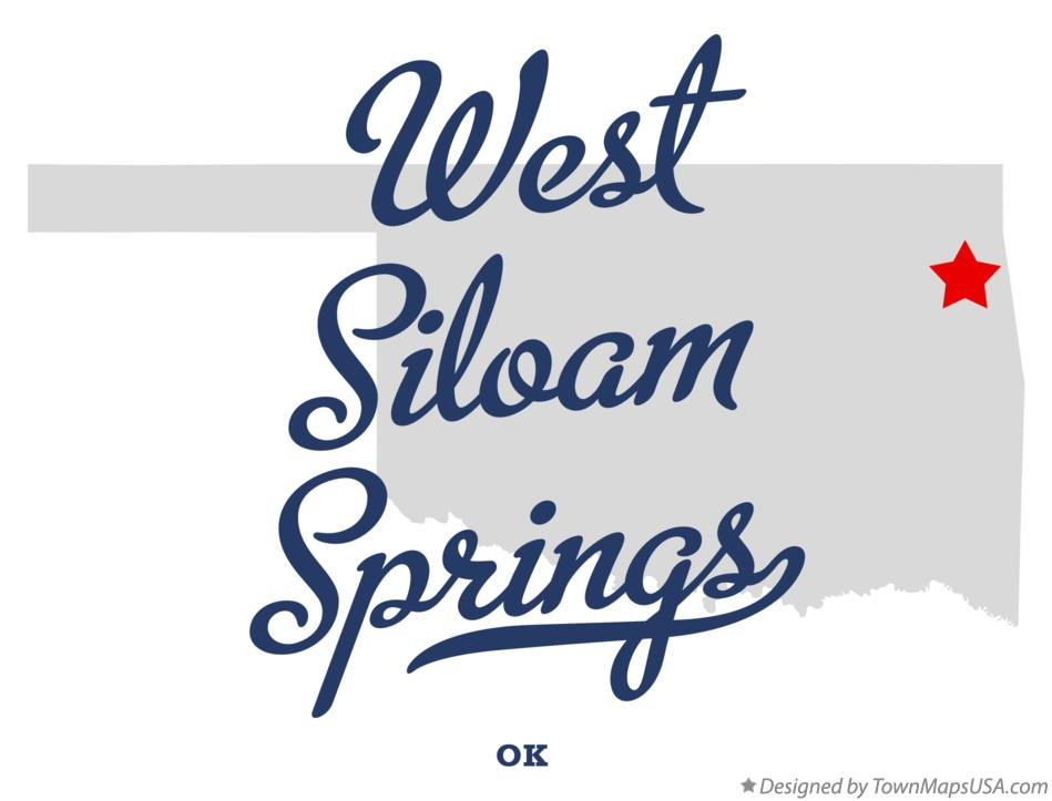 Map of West Siloam Springs Oklahoma OK