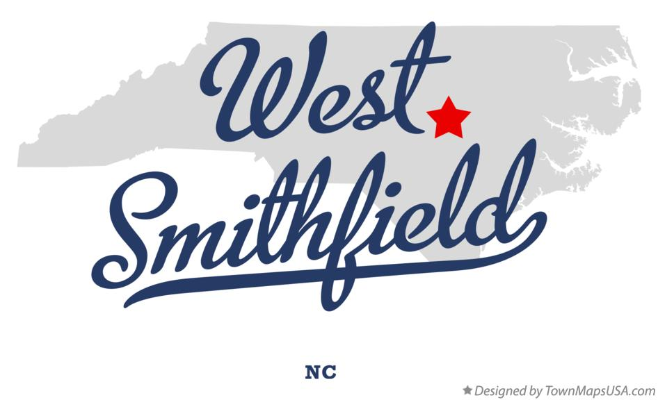 Map of West Smithfield North Carolina NC